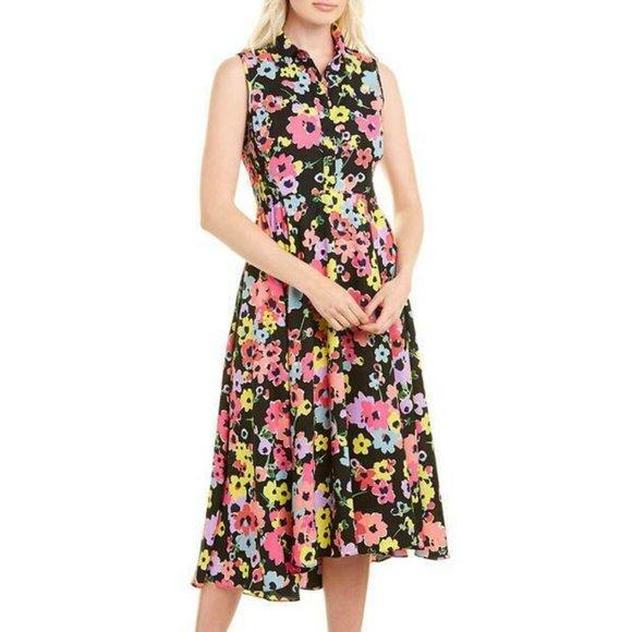 KATE SPADE Black Floral Wildflower Bouquet Dress